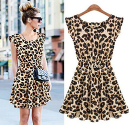 Limited Sale! New Ladie's Summer Dresses O-Neck Leopard Print Mini Casual Sundress Oversized Free Shipping Sexy Personality Hot Sale Fashion