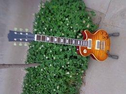 Wholesale best china guitar Custom Shop Quilt Maple Top Gloss Orange Drop Electric Guitar OEM
