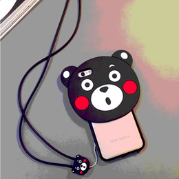 Cute Cartoon Cell Phone Cases Flower Bear Phone Cover with Soft TPU for iphone 7 6S Huawei R9 03