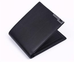 Wholesale 2015 Bogesi Man Wallet Short Purse Bifold Mens Solid Leather Wallets Multi Slot Pocket Credit Card Photo Holder Zipper Pouch DHL free