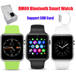 Wholesale 2016 DM09 Bluetooth Smart Watch MTK2502C Phone Support SIM Card D ARC HD Screen Camera Wearable SmartWatch Magic Knob Sync For Android