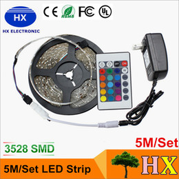 Hot sale 5M Set 3528 rgb 5m RGB led strip Light led Strips light 3528 LED waterproof for home decoration free shipping