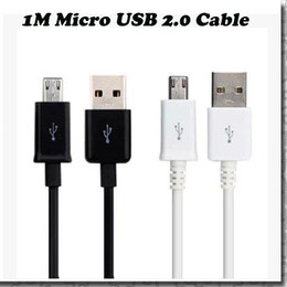 Wholesale Micro USB Cable Mobile Phone Charging Cable M USB2 Data sync Charge Cable for Samsung galaxy S4 S5 HTC Android Phone