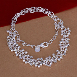 Hot sale Light Grapes Necklace sterling silver necklace STSN058,fashion 925 silver Chains necklace factory direct sale christmas gift