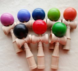 DHL EMS ship Length 18 6CM Kendama Ball Japanese Traditional Wood Game Toy Kids Education Gifts many colors