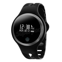 Impermeable reloj gps trackers online-IP67 impermeable Bluetooth 4.0 Smartwatch GPS deporte Fitness Tracker Smart pulsera reloj E07 para iOS iPhone 7 Android Smartphone