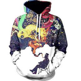 Free Shipping US Size M-5XL High Quality New Fall Fashion Casual Hoodie Cartoon 3D Digital Printing Hooded Sweatshirt Sweater