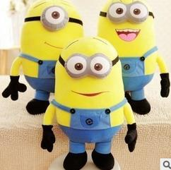 Wholesale Great Quality Despicable Me Minions D Eyes Cartoon Plush Toy Doll Large Minions Hug The Bear