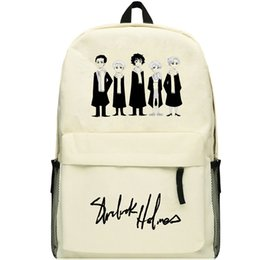 Wholesale Signature sherlock All actor backpack BBC TV detective school bag Sherlocked fans day pack Quality daypack
