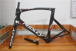 Wholesale White Sky Blue Black Decals Ridley Full Carbon Racing Road Frame UD Glossy Matt PF30 BB30 Bicycle Frameset