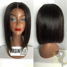 Indian Human Hair Silk Base Lace Front Short Bob Wigs For Black Women Silky Straight Silk Top Glueless Full Lace Wigs