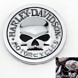 Wholesale 2016 Hot Sale HARLEY DAVIDSON MOTORCYCLES Skull Bone Car Motorcycle Auto Chrome Silver D Metal Emblem Badge Decal Sticker