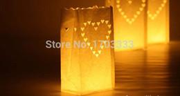 Promotion sacs ignifuges Sac en papier de bougie Sacs Luminary / Fireproof Lanterne Sac Décoration Anniversaire De Mariage Décoration En Forme 1000pcs # SD3426 160318 #