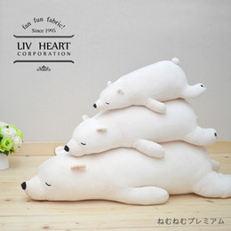 Wholesale Two kinds of color three dimension Japan LIV HEART polar bear plush toys large sized long pillow doll doll girl a gift
