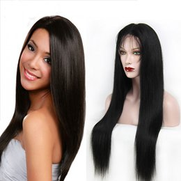 7A Unprocessed Malaysian Human Hair Lace Front Wig Silky Straight Hair Glueless Full Lace Wig With Baby Hair For Black Women