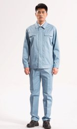 Wholesale CUSTOMER MADE Set of coat and pant brand new spring and autumn men s or women s long sleeve acid and alkali resistant work wear