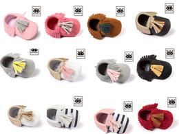 2016 Baby Soft PU Leather Tassel Moccasins walker shoes baby Toddler Fringe Tassel Shoes Moccasin soft soled shoes E1020