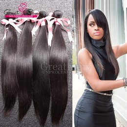 Wholesale 4pcs Virgin Indian Brazilian Unprocessed Human Hair Extensions Silky Straight Greatremy Dyeable HUMAN HAIR WEAVE Double Weft Bundles