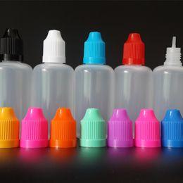 50ml Needle bottle LDPE Plastic Dropper Bottles NEW E-cig OIL bottles Empty Dropper bottles with Childproof cap and fine Tips for E juice
