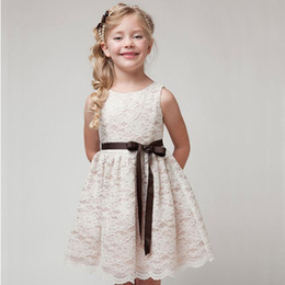 Wholesale Girls dresses summer children clothes girls beautiful lace dress white baby girls dress teenager kids dress for age Y