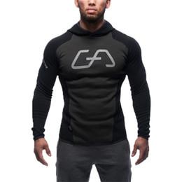 Wholesale Slim Muscle Men - NEW shark GYM Hoodies camisetas masculina hombre coat Bodybuilding and fitness hoody Sweatshirts Muscle men's sportswear Pants