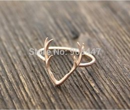 Wholesale Antlers ring of gold and silver products sell like hot cakes personalized classic women YP06372016 festival best gift