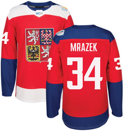 Wholesale 2016 World Cup of Hockey Czech Republic Team Jersey Mrazek Hemsky Polak Sustr Nakladal Neuvirth Michalek Any Name Number
