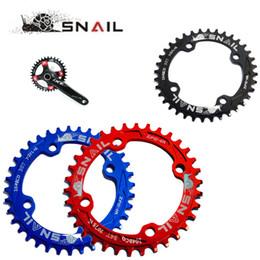 Wholesale SNAIL MTB Bicycle BCD T T T T Round Chainring Aluminium Narrow Wide Bike Circle Crankset Disc Chain Wheel Plate