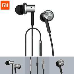 Wholesale Original XIAOMI Hybrid Piston Dual Driver Earphone Stereo In Ear Circle Iron Dynamic Balanced Armature Mic For Xiao Mi Android