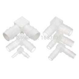 Descuento tubo de la manguera de plástico transparente 2015 alto estándar no tóxicos adecuados Claro L- trozo de tubo de plástico del codo de púas Conectores Joiner manguera del adaptador de montaje