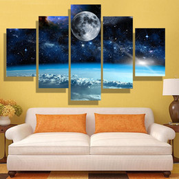 5p modern Home Furnishing HD picture Canvas Print art wall of the sitting room children room decoration theme -- space study