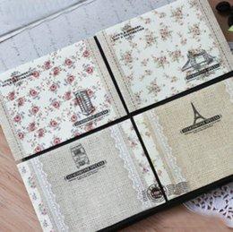 Papelería sobre de papel en venta-El nuevo regalo floral coreano de los efectos de escritorio del sobre del papel de la tarjeta del sobre del cordón de Wholesale-9Pcs / Lot /