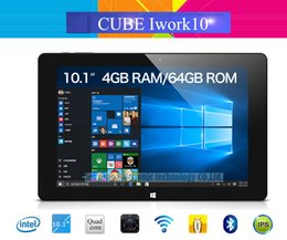 Ips tablet intel atom online-Al por mayor-Cubo original iwork10 último Windows 10 + Android 5.1 Tablet PC 10.1 '' IPS 1920x1200 Intel Atom Z8300-X5 Quad Core 4 GB / 64 GB HDMI