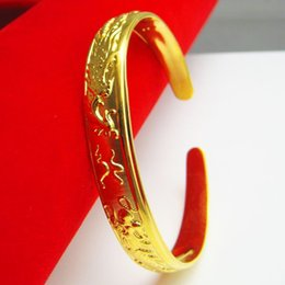 For a long time does not fade imitation gold bracelet female gold plated 24K Dragon Bracelet imitation gold jewelry opening paragraph mother