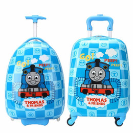 Wholesale 16 Boys Thomas Train Design Luggage Children Tomas School Bags With Wheels Kids Cartoon Travel Suitcase Trolley Bags