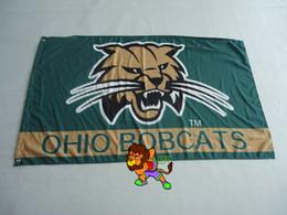 Ohio University Flag USA With Stars and Stripes Flag 3x5 ft custom Banner 90x150cm Sport flag