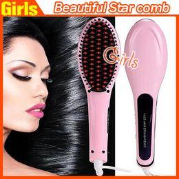 Wholesale Beautiful Star Hair Brush Comb Straightener Style NASV Hair Straight Hair Styling Tool Flat Iron Hair Straightener VS mason hair brush