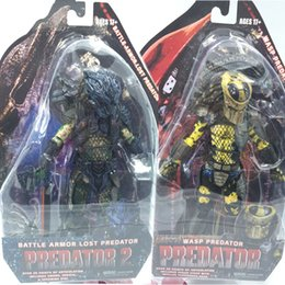 Wholesale NECA Predators Battle Armor Lost Predator Wasp Predator PVC Action Figure Collectible Model Toy quot cm
