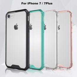Wholesale 2016 New Arrive Hybrid iPhone7 Case for iPhone Plus Super Thin Clear TPU i Phone Case Colors