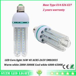 High power LED bulbs 16W E27 E26 E14 led corn light with glass cover 4u lighting warm white cool white