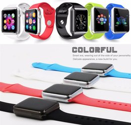 Wholesale Factory Price A1 Smart Watch Bluetooth Smartwatch Phone Support SIM TF Card Smart Watches With Silicone Strap Smartphone VS DZ09 U8 GT08