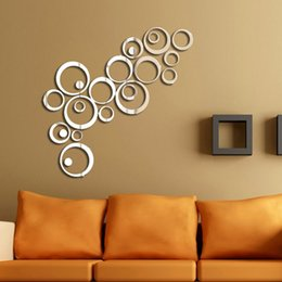 Wholesale Ring sticker listed in stock decorative mirrors hot wall sticker in mirror wall sticker WST3001