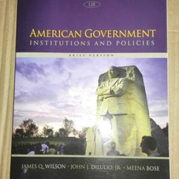 Books Text Books for Students: American Government Institutions and Policies, 978-1305109001 10pcs