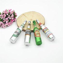 Wholesale Retail Aluminum Big Size Wine Bottle Metal PipeSmoking Pipe Random Colors Tobacco Cigarette Pipe