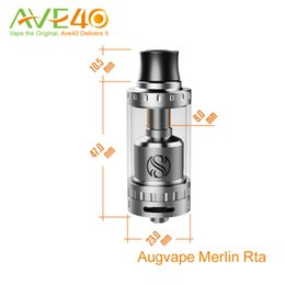 Wholesale Augvape Merlin RTA ml Top Filling Tank mm airflow hole VS IJOY Limitless RDTA Original