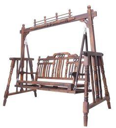 Wholesale Outdoor Furniture Leisure Garden Rack Chair Wooden Patio Swing