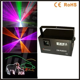 Wholesale 2w RGB animation ttl modulation laser light show DMX ILDA laser disco light stage laser projector