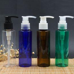 Wholesale 120ml Refillable Plastic Shampoo Bottle Color PET Makeup Pump Sprayer Bottle Cosmetic Containers FZ106