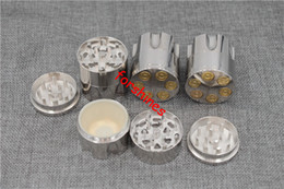 free shipping USA Bullet Shape Metal grinder Herbal Herb Cigar Tobacco Grinder Smoke Crusher Hand Muller crank zinc alloy for smoking pipe