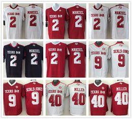Johnny maillots manziel à vendre-Texas Amaggies Jersey Football Ncaa College Johnny Manziel Ricky Seals-Jones Von Miller Jerseys 2016 Noir Blanc Rouge Coutures